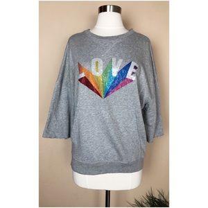 Zadig&Voltaire Kaly Lobe Rainbow Strass Sweatshirt